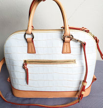 Load image into Gallery viewer, Dooney and Bourke White Embossed Shoulder Bag