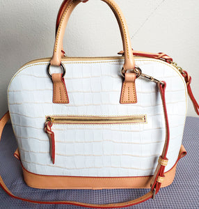 Dooney and Bourke White Embossed Shoulder Bag