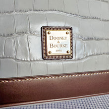 Load image into Gallery viewer, Dooney and Bourke Gray Embossed Shoulder Bag