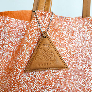 Sorial Pebble Print Leather Tote Bag