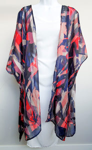 Abstract Colorful Kimono Wrap