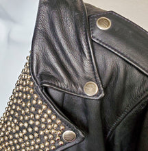 Load image into Gallery viewer, Harley Davidson Star Studded Leather Moto Jacket