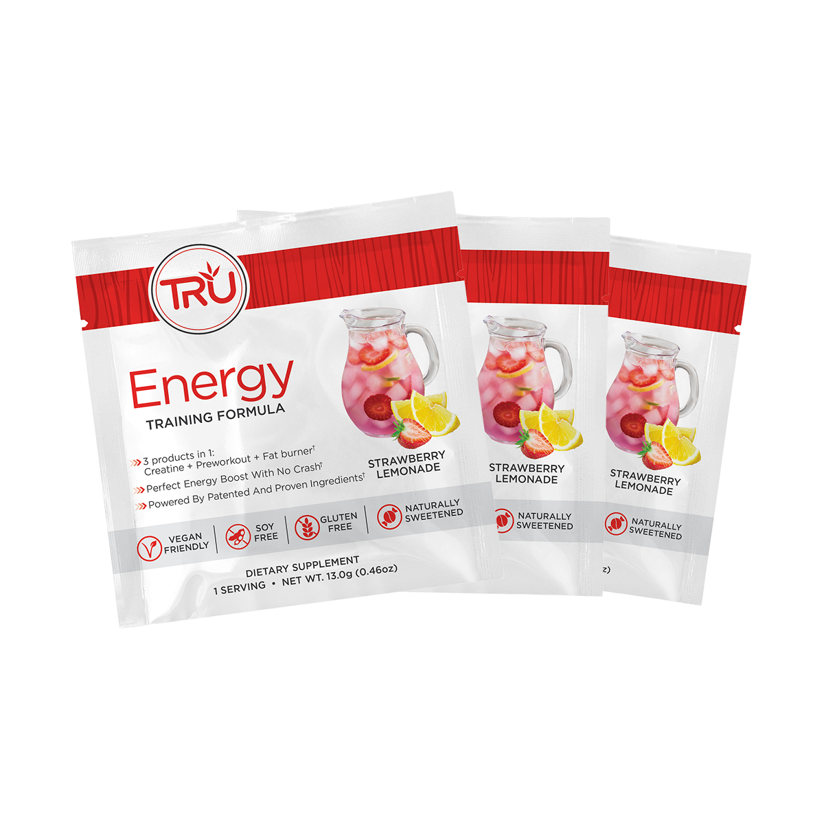 TRU ENERGY PREWORKOUT SAMPLER - 3 Single Serving Packets