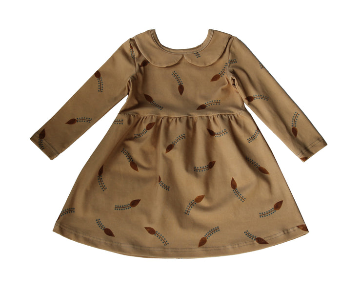 POIU Dress, Cinnamon Leaf