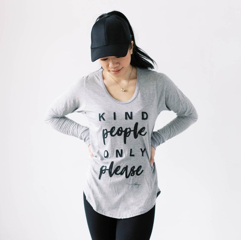 KIND PEOPLE ONLY PLEASE 3.0  Long Sleeve Tee (Heather Grey)