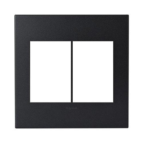 Legrand Arteor Cover Plate 2 x 3 Modules 4 x 4 - Graphite