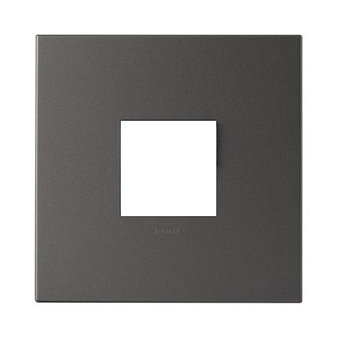 Legrand Arteor Cover Plate 2 Modules 4 x 4 - Magnesium