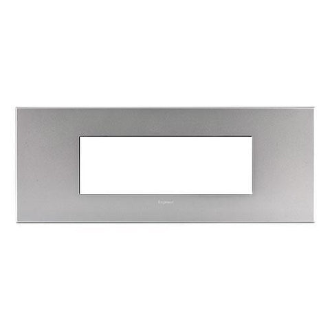 Legrand Arteor Cover Plate 6 Modules - Soft Aluminium