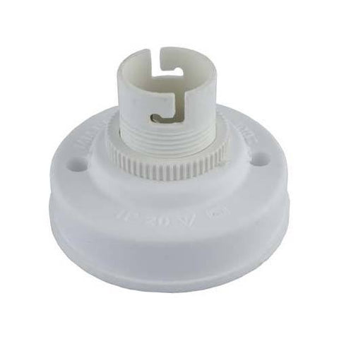 Matelec Nylon Baton B22 Lamp Holder White 100W