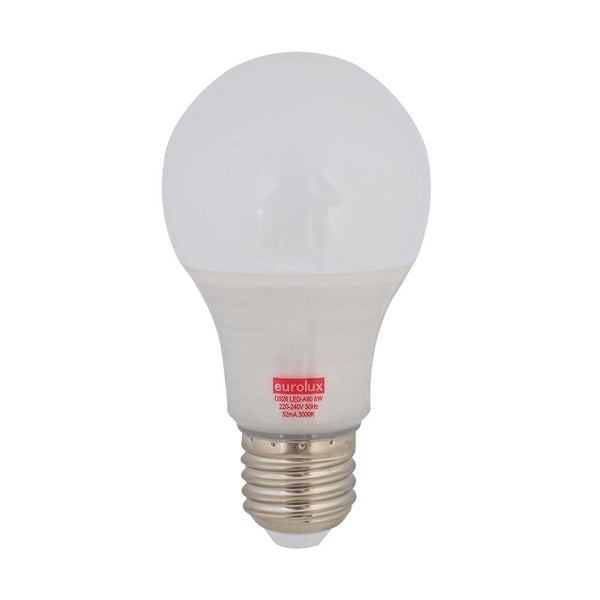 Eurolux LED Opal Globe E27 6W 510lm Warm White