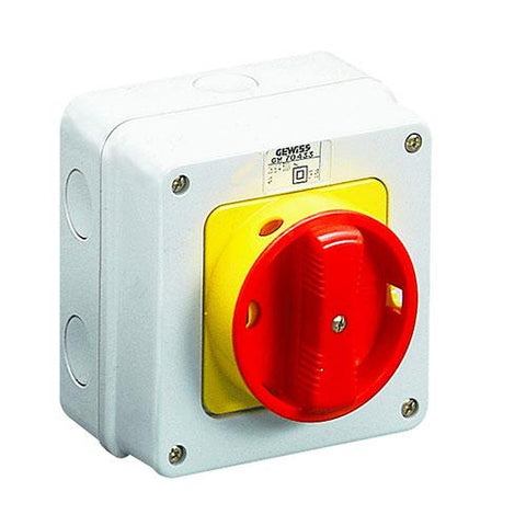 Gewiss Enclosed Isolator 3P 16A IP65