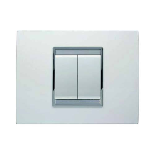 Gewiss Chorus Lux 2 Lever Light Switch - Milk White