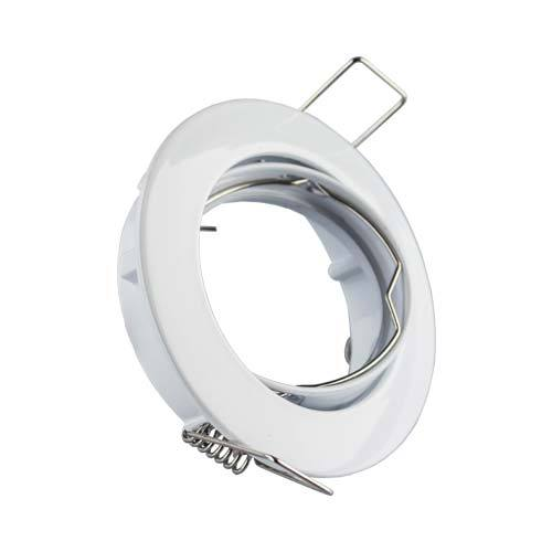 Genstar Aluminium Tilt Downlight 83mm - White