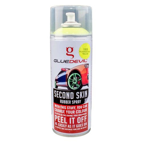 GlueDevil Second Skin Rubber Spray Paint Fluorescent Yellow