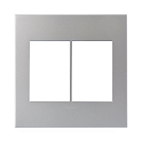 Legrand Arteor Cover Plate 2 x 3 Modules 4 x 4 - Soft Aluminium