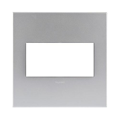 Legrand Aretor Cover Plate 4 Modules 4 x 4 - Soft Aluminium