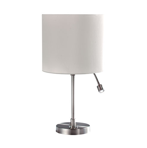 Satin Chrome Table Lamp with Spot LED