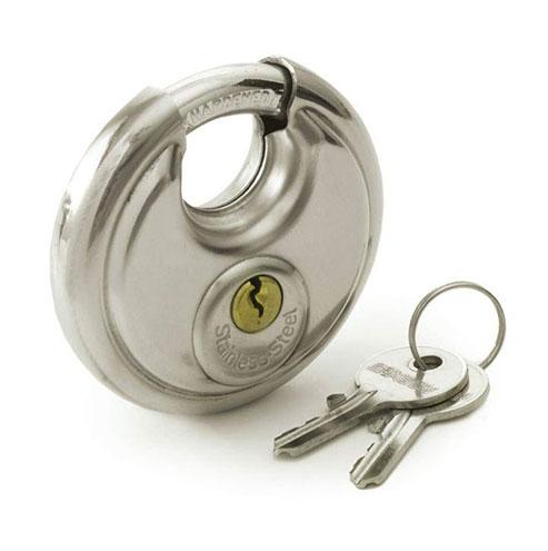 Samson Stainless Steel Discus Padlocks - Keyed Alike 70mm
