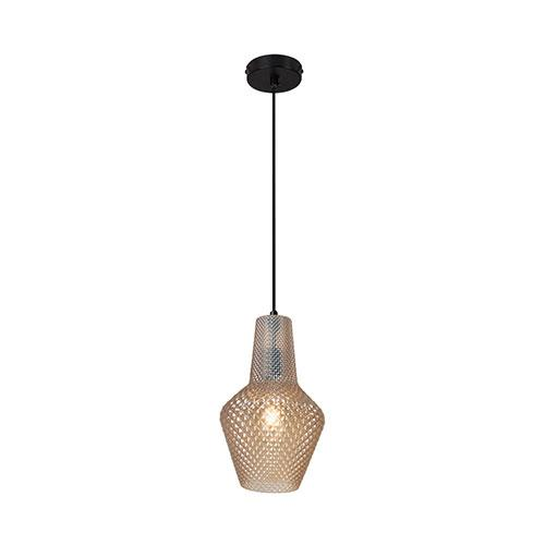 Eurolux Milano Pendant Amber Glass 430mm
