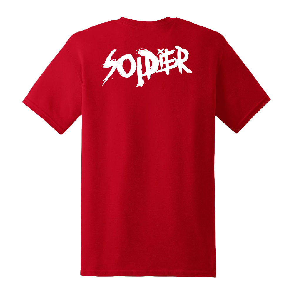 Cartoon Soldier Red Tee