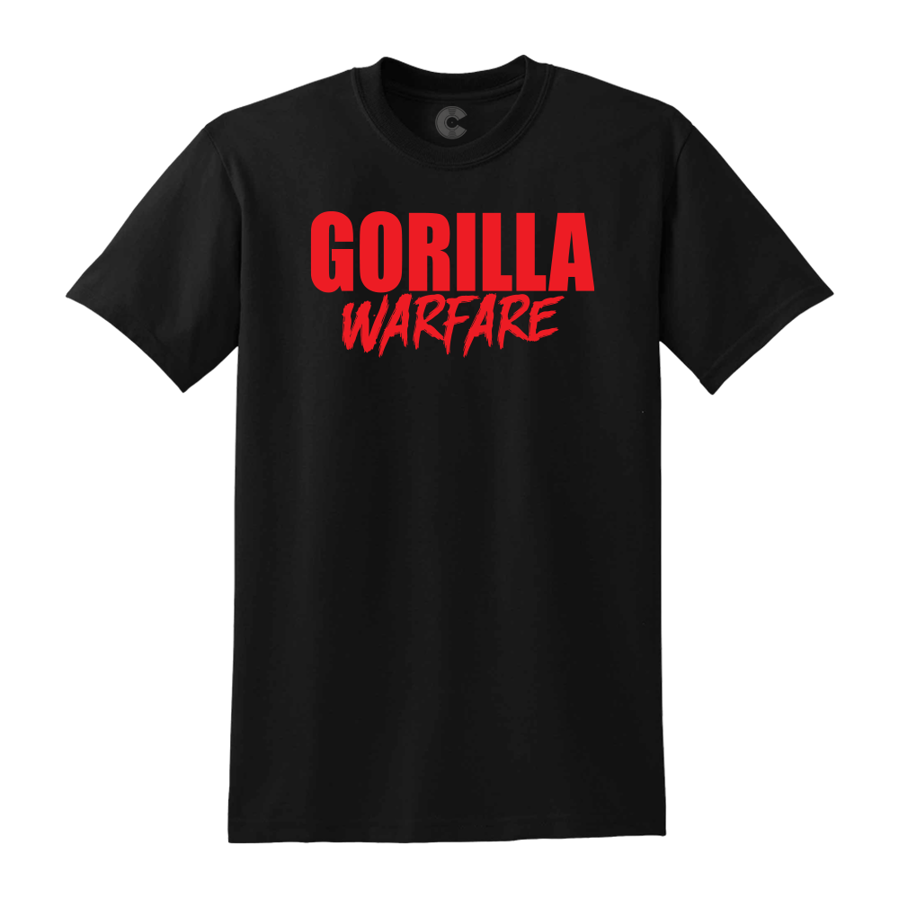 GORILLA WARFARE BLACK TEE