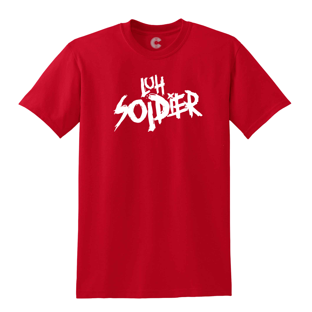 Luh Soldier Logo Red Tee