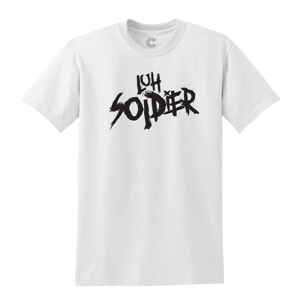 Luh Soldier Logo White Tee