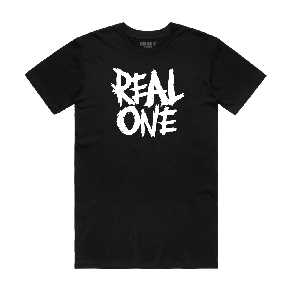 REAL ONE BLACK TEE