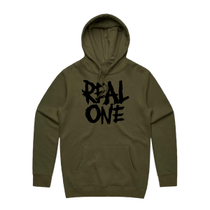 REAL ONE ARMY GREEN HOODIE