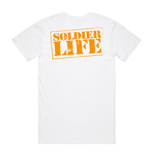 SOLDIER LIFE WHITE TEE