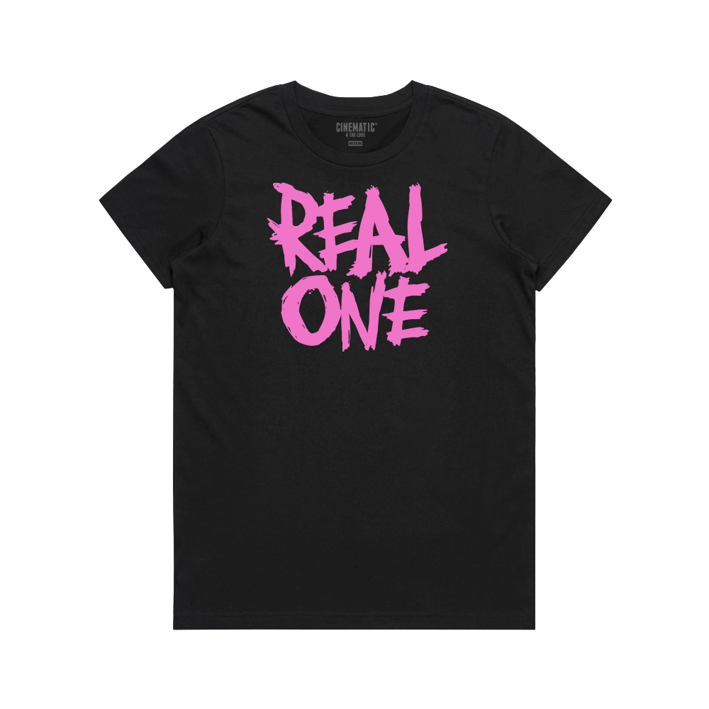 GIRLS REAL ONE BLACK TEE