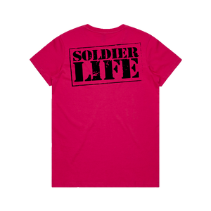 GIRLS SOLDIER LIFE PINK TEE