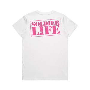 GIRLS SOLDIER LIFE WHITE TEE