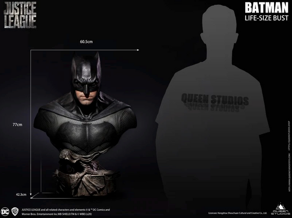 Queen Studios Justice League Batman - Behind The Bust