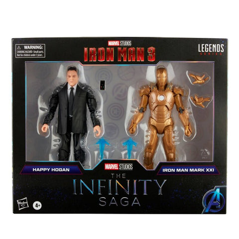 (Hasbro)(Pre-Order) Marvel Legends Infinity Saga - Happy Hogan and Iron Man Mark 21 - Deposit Only