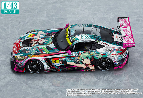 Image of (Good Smile Company) (Pre - Order) 1/43rd Scale Good Smile Hatsune Miku AMG 2020 SUPER GT Okayama Test Ver. - Deposit Only