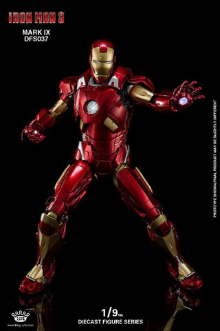 (King Arts) (Pre-Order) Iron Man Mark 9 - 1/9 Scale Diecast Figure DFS037 - Deposit Only