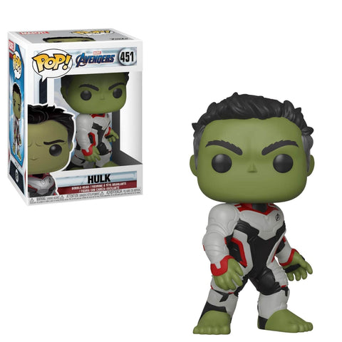 (Funko Pop) #451 AVENGERS – HULK W/ AV-SUIT with Free Boss Protector
