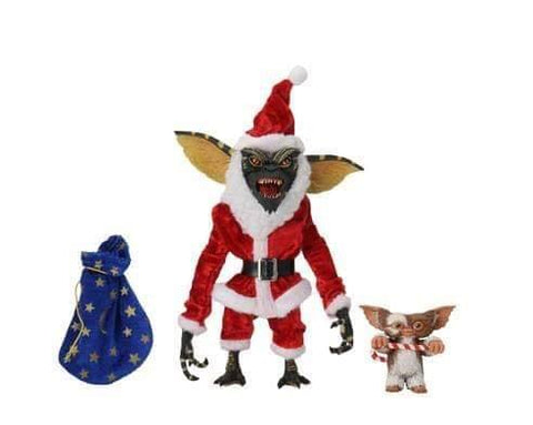 "(Neca) Gremlins 7"" Scale Action Figure Santa Stripe & Gizmo"