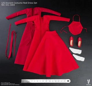 (VERYCOOL) (Pre-Order) ACCESSORIES SERIES :1/6 Ancient Costume Red Dress Set VCL-1003 reprint - Deposit Only