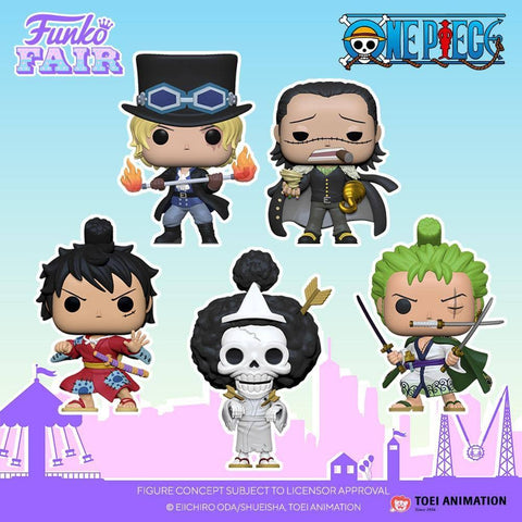 (Funko Pop) (Pre-Order) Pop! Animation: One Piece - Luffy in a Kimono with Free Boss Protector