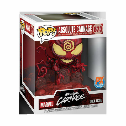(Funko) Marvel Heroes Absolute Carnage Deluxe Pop! Vinyl Figure and Venom #27 Variant Comic - Previews Exclusive