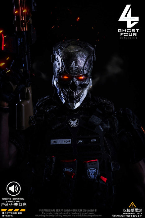 (GHOST FOUR) (PRE-ORDER) GS-001 Sound control LED can be bright head carving-Centurion Takov- DEPOSIT ONLY