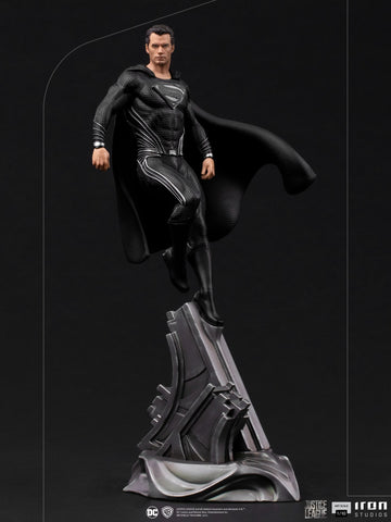 (Iron Studios) (Pre-Order) Superman Black Suit Art Scale 1/10 – Zack Snyder's Justice League