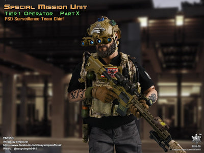 (Easy & Simple) (Pre - Order) 26030B Special Mission Unit Part X PSD Surveillance Team Chief - Deposit Only