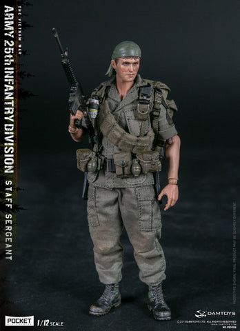DAMTOYS 1/12 PES006 POCKET ELITE SERIES - ARMY 25th Infantry Division Private STAFF SERGEANT