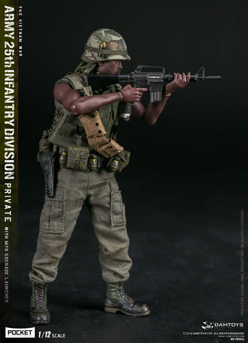 DAMTOYS 1/12 PES011 POCKET ELITE SERIES - ARMY 25th Infantry Division Private WITH M79 GRENADE LAUNCHER