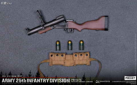 (DAMTOYS 1/12) (Pre-Order) PES011 POCKET ELITE SERIES - ARMY 25th Infantry Division Private WITH M79 GRENADE LAUNCHER- Deposit Only