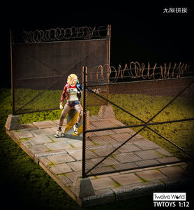 (TWTOYS) (Pre-Order) TW2028 1/12 Cement floor & metal fence with barbed wire diorama - Deposit Only