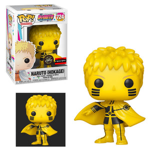(Funko Pop) Boruto: Naruto Next Generations Naruto Hokage Pop! Vinyl Figure - Exclusive and CHASE Version with Free Protector